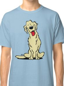 Cartoon Golden retriever dog Classic T-Shirt