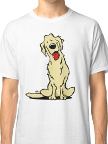Cartoon Golden retriever dog Classic T-Shirt