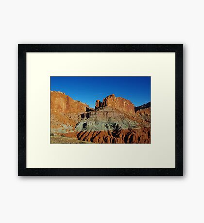 Colours in sandstone and rocks Framed Print