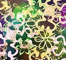 Flower and leaves design by RosiLorz