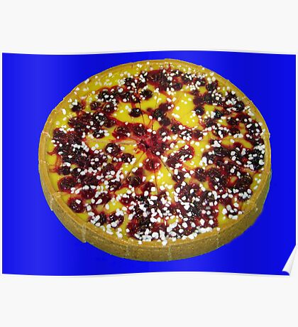 Mouth Watering Cherry and Custard Pie Poster