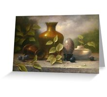 Golden Vase with Marble Egg Greeting Card