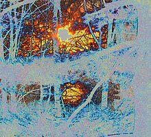 """Sunburst and Purple Snow by David """"Oz""""  Osterczy"""