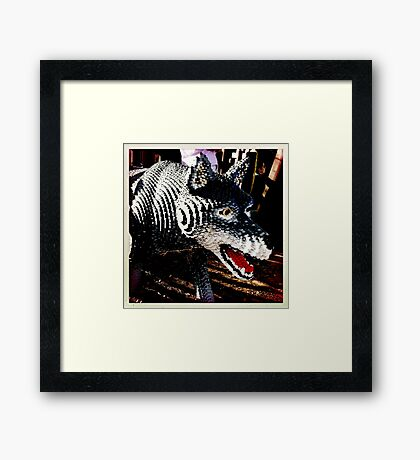 Hey there little red riding hood..... Framed Print