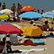 Algarve - Beach umbrellas by Maureen Keogh