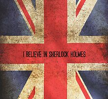 I Believe In Sherlock Holmes iPhone Case by holmed