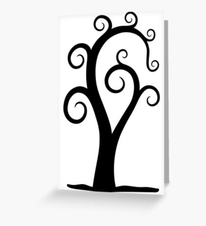 Nautilus Shell Tree Greeting Card