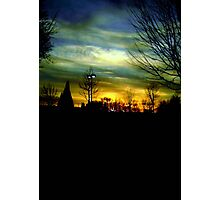 Winter evening sky © Photographic Print