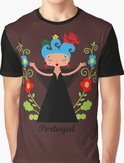 Portuguese Fado singer with ships Graphic T-Shirt