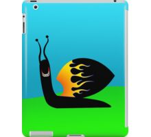 High-speed, gold-toothed snail iPad Case/Skin