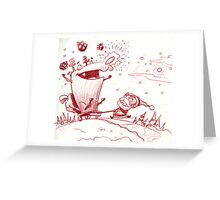 Guide my sleigh Greeting Card