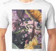 Hydrangea Petal Rain Under the Bodhi Tree Unisex T-Shirt