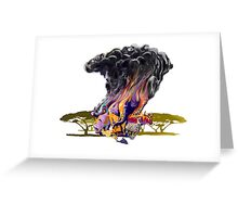 OUT OF AFRICA surreal digital art painting Greeting Card