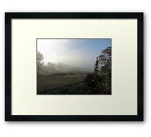 Reserve Fog Framed Print