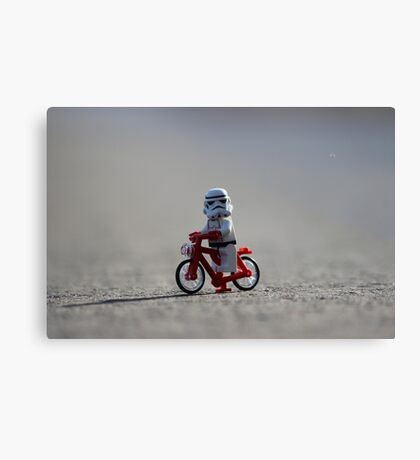 Bicycle Stormtrooper Canvas Print