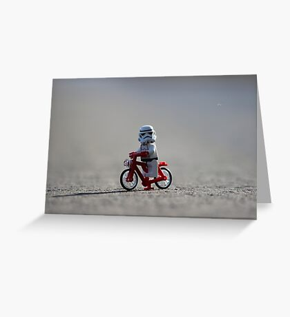 Bicycle Stormtrooper Greeting Card