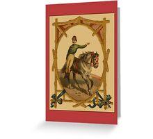Circus Horse/Rider Greetings Greeting Card