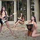 Beautiful Nude Musician Outdoors (1) by cspmedia