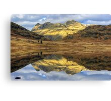 Langdale Reflections Canvas Print