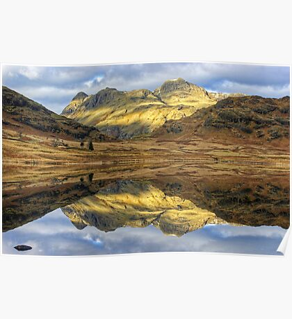 Langdale Reflections Poster
