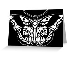 Butterfly Tattoo White Greeting Card