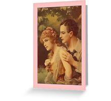 Vintage Lovers Greetings Greeting Card