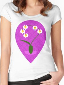 Orquídea | Orchid Women's Fitted Scoop T-Shirt