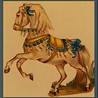 Vintage Circus Horse Greetings by Yesteryears