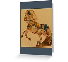 Vintage Circus Horse Greetings Greeting Card