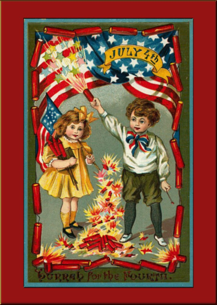 Boy/Girl Independence Day Greetings by Yesteryears