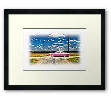 1955 FORD CROWN VICTORIA CROSSROADS IN LIFE Framed Print