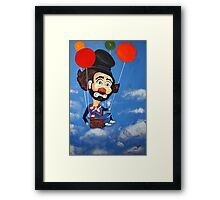 CLOWN  UP UP AND A WAY Framed Print