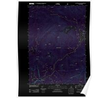 USGS TOPO Map New Hampshire NH Waterville Valley 20120606 TM Inverted Poster