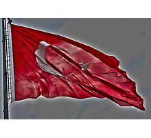 Turkish Flag Photographic Print