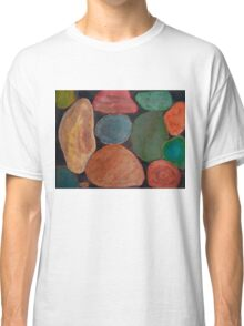 Lovely colourful Stones on dark Background Classic T-Shirt