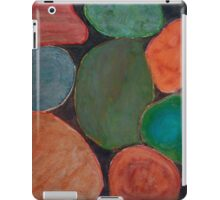 Lovely colourful Stones on dark Background iPad Case/Skin