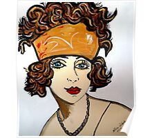 1920 STYLE WOMAN WITH BANDANA Poster