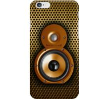 Speaker iphone case. gold edition iPhone Case/Skin