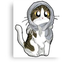 Kitty with scarf Canvas Print