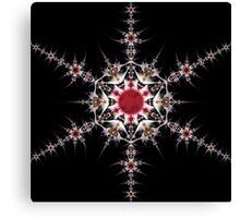 Solar Snowflake Canvas Print