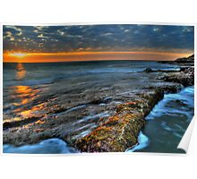 Rocky Seawall Poster