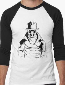 Rorschach from Watchmen Original Art Men's Baseball ¾ T-Shirt