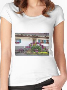 House and Flowers Women's Fitted Scoop T-Shirt