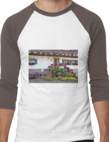 House and Flowers Men's Baseball ¾ T-Shirt