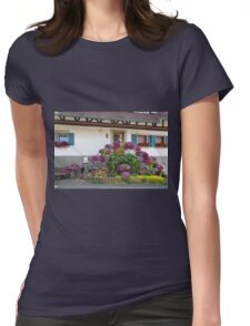 House and Flowers Womens Fitted T-Shirt