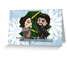 The Musketeers Christmas Card - Porthos and Alice Greeting Card