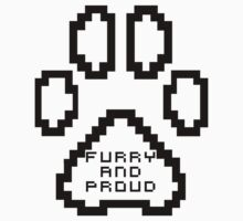 Furry and proud 8-Bit shirts and hoodies. by Damfurrywolf