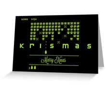 Xmas Invaders Greeting Card