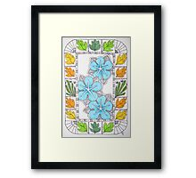 Bright Blue (Venus) Rose Framed Print
