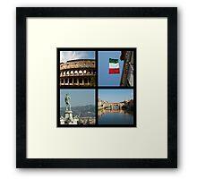 Italian icons Framed Print